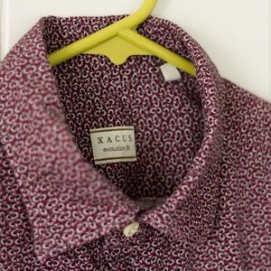 Xacus Shirts - Xacus Owl Microprint Button Down Shirt